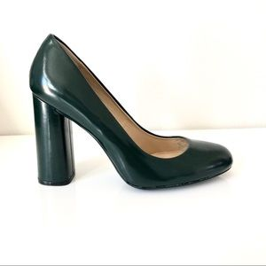 Zara Dark Green Black Pumps